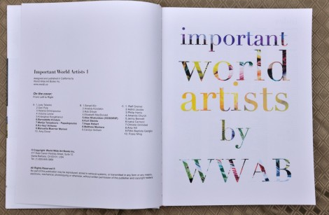 "Publication 2013 ""important world artists by WWAB"" The Title Page. My name is under column B #4"
