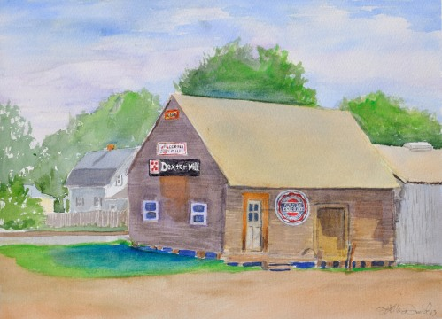 The Dexter Mill Commissioned at the Dexter Plein Air Festival Sold!