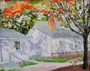 THIRD Place with 17 votes, Park House, Amherstburg, On. Watercolour 8 x 10 $275