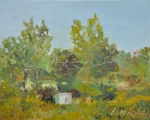 Lonely Shack, Malden Park, Windsor, On Plein Air Oil on board 8x10 $275. Displayed at ArtSpeak Gallery Dec. 19th, 2014