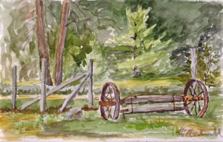 Forgotten, Michigan. Watercolour Plein Air 5 x 8 Strathmore 90lb Visual Journal watercolour book unframed $50