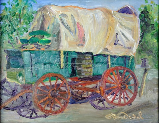 Paint Your Wagon, 8 x 10 Oil on board in Private Collection 2nd place Quick Paint, Paint Dexter Plein Air Festival. Sold!