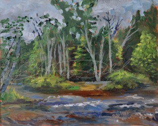 Pipeline Put In, Rifle River in Michigan, Plein Air 8 x 10 Oil on panel $275.