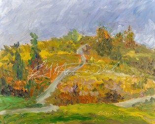 The Coming Storm, Plein Air 8x10 Oil on Ampersand Museum Series Gessoboard $275.