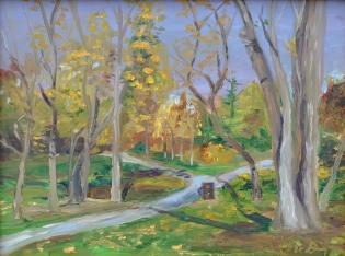Well Traveled Path, Malden Park, Windsor, On 9 x 12 Oil on Ampersand Gessoboard — at Malden Park $350.