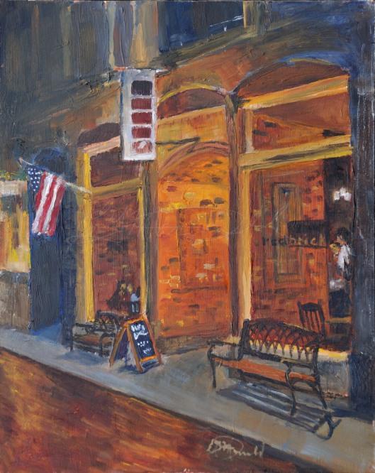 Dexter Nightlife, Plein Air Commission.  8 x 10 Oil on panel.  NFS
