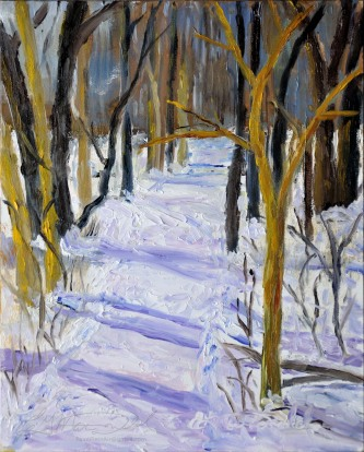 South Trail Head, Ojibway. Plein Air 8 x 10 Oil on Ampersand Museum Series Gessoboard Sold