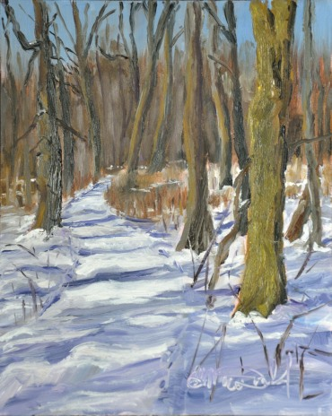Title: Well travelled Path. Location: Ojibway 8 x 10 framed Donated to Rankin Family Fundraiser.