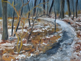 Title: Winter Begins Location: Ojibway 9 x 12 framed $350. (On display at Arts Council 2015)
