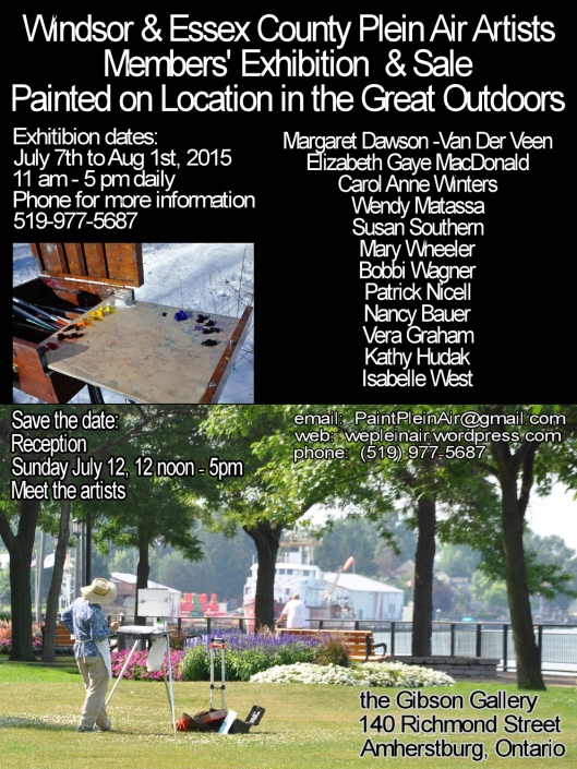 Month long Windsor & Essex County Group exhibition at the Gibson Gallery in Amherstburg.