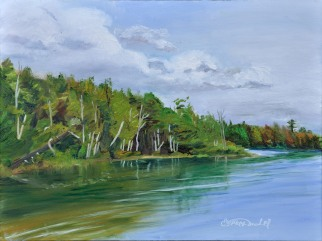 FRIDAY SECOND Place with 18 Votes! SATURDAY SECOND Place with 12 Votes.Elbow Lake, in Prescott, Michigan. 9 x 12 Oil on Ampersand museum Gessobord. $350