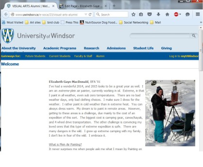 My article published on the UofW alumni page June 26th, 2015 http://www.uwindsor.ca/e-soca/23/visual-arts-alumni