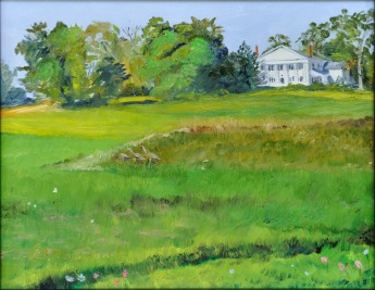Peaceful Plantation, Sold Dexter Quick Draw 2015 -8 x 10 Oil on Ampersand Gessobord OPA Online Showcase Oct - Dec 2015
