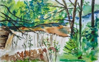 "Tahquamenon Falls 8"" x 5.5"" watercolour on Strathmore paper $100. unframed"