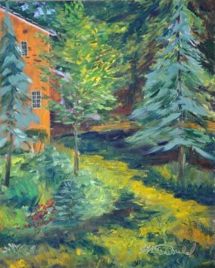 Ann's Garden 8x10 Ann's Garden, Oil on Ampersand Gessobord $275.